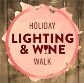 Logo for the Holiday Lighting and Wine Walk Event