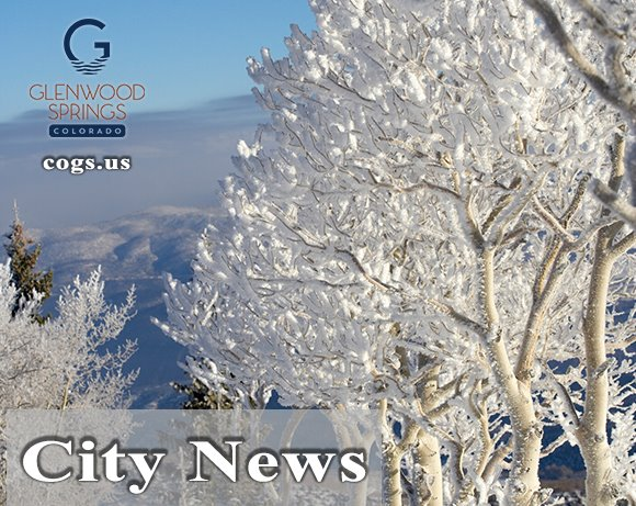 Glenwood Springs City News, image of frosted trees