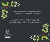 City facilities closed Dec. 22, 25, and Jan. 1